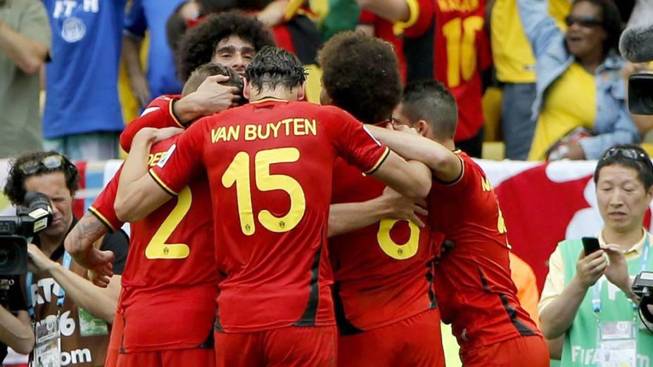 Bélgica vence a Rússia por 1 x 0, no estádio do Maracanã, no Rio de Janeiro
