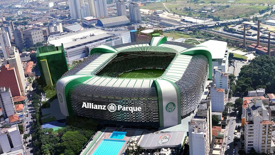 Projeção na nova Arena do Palmeiras