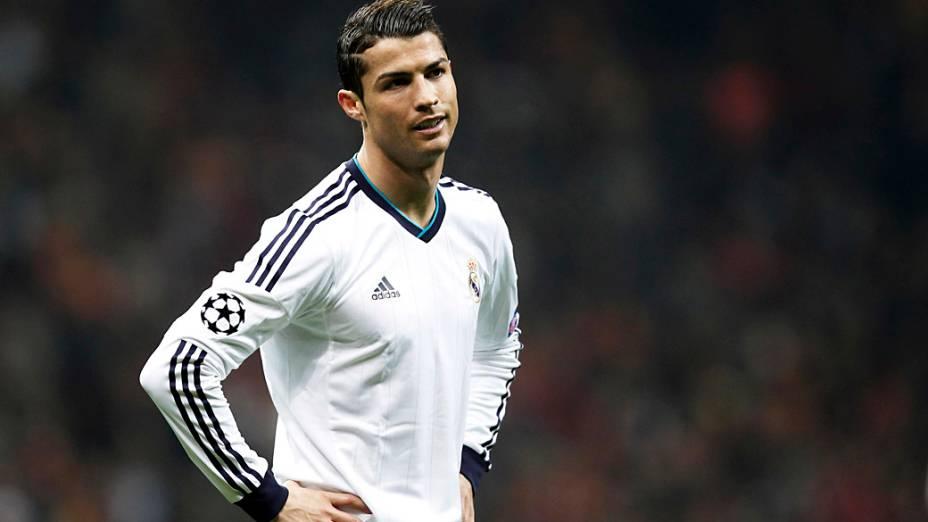 Cristiano Ronaldo durante o jogo contra o Galatasaray, pelas quartas de final da Liga dos Campeões