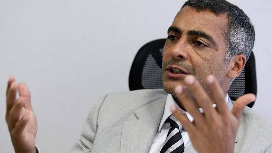 Romário (PSB) é eleito senador do Rio de Janeiro<br><br>  Deputado Romário (PSB-RJ), em seu gabinete, na Câmara dos Deputados em Brasília