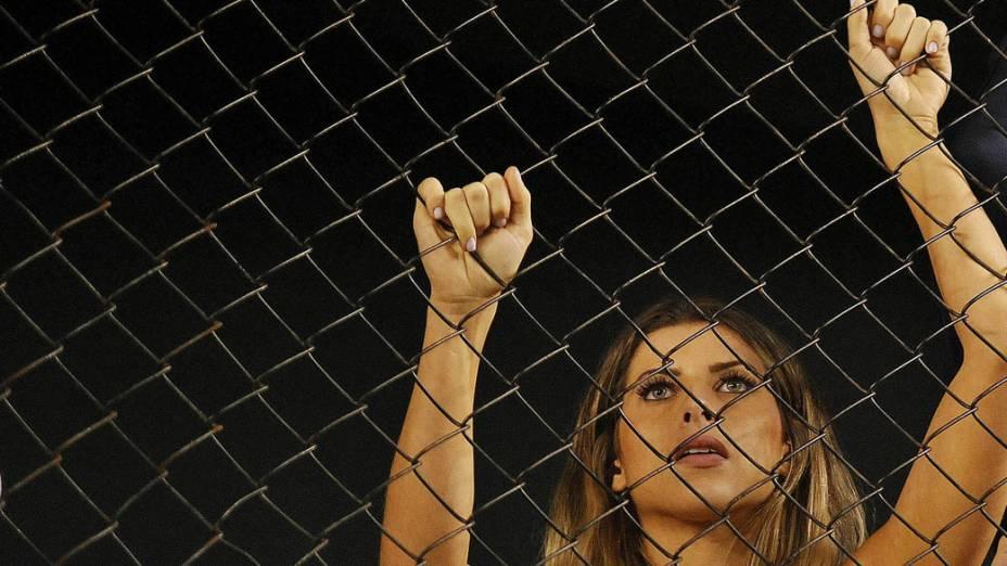 Torcida do Corinthians comemora a conquista do Campeonato Paulista