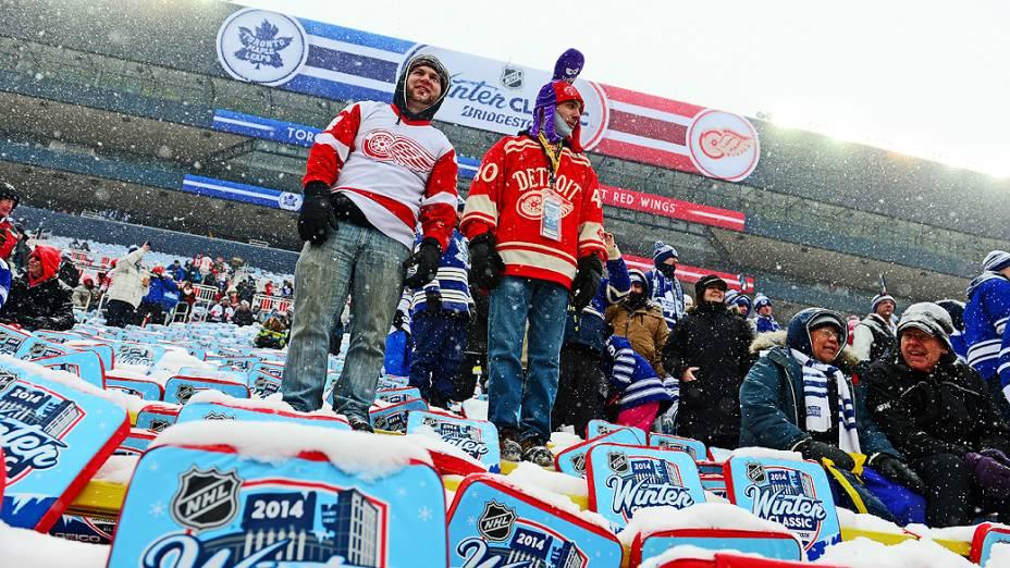 Torcida ignorou o frio no Michigan Stadium