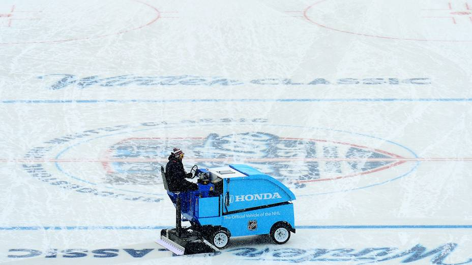 Frio no Michigan Stadium de 15 graus negativos ao ar livre
