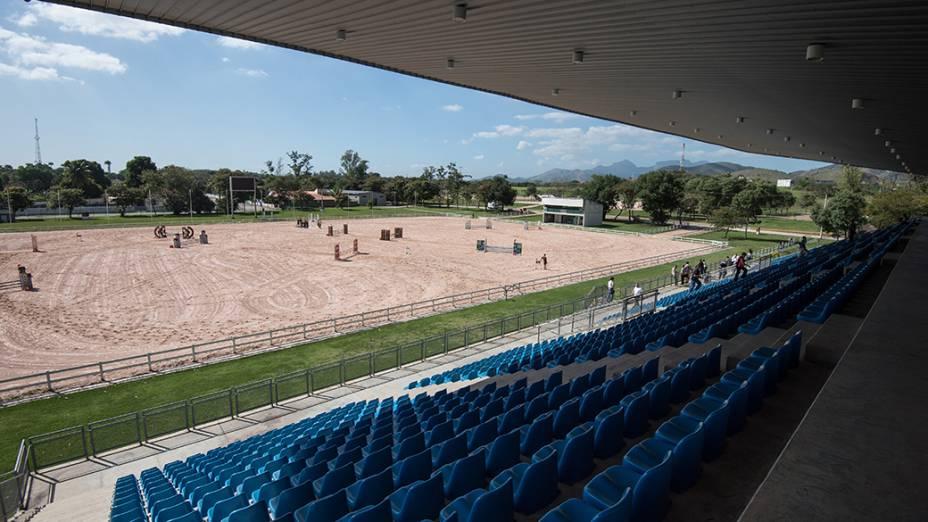 Vista do Centro Nacional de Hipismo que passará por reformas para realização dos Jogos Olímpicos e Paraolímpicos Rio 2016