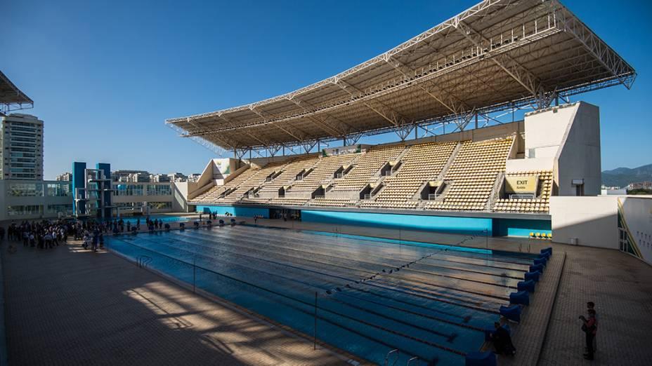 Vista geral do Complexo Maria Lenk que passará por renovação para os Jogos Olímpicos e Paralímpicos Rio 2016