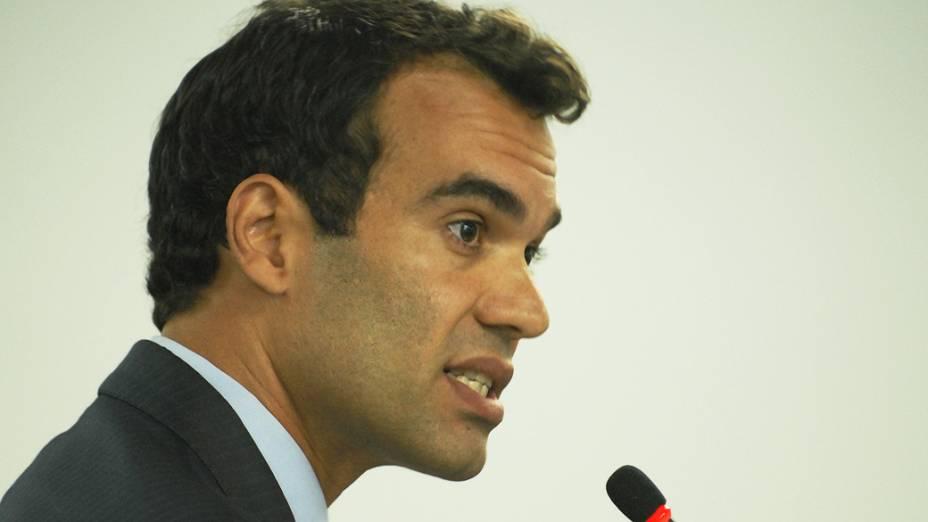 Michel Asseff Filho, advogado do Flamengo durante o Julgamento do Pleno, no Superior Tribunal de Justiça Desportiva, no Rio de Janeiro