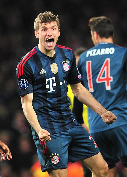 Müller fez, de cabeça, o segundo do Bayern de Munique