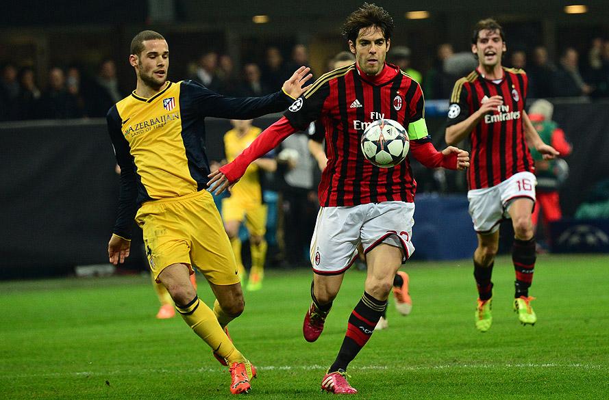 O brasileiro Kaká jogou bem, mas não conseguiu marcar gol