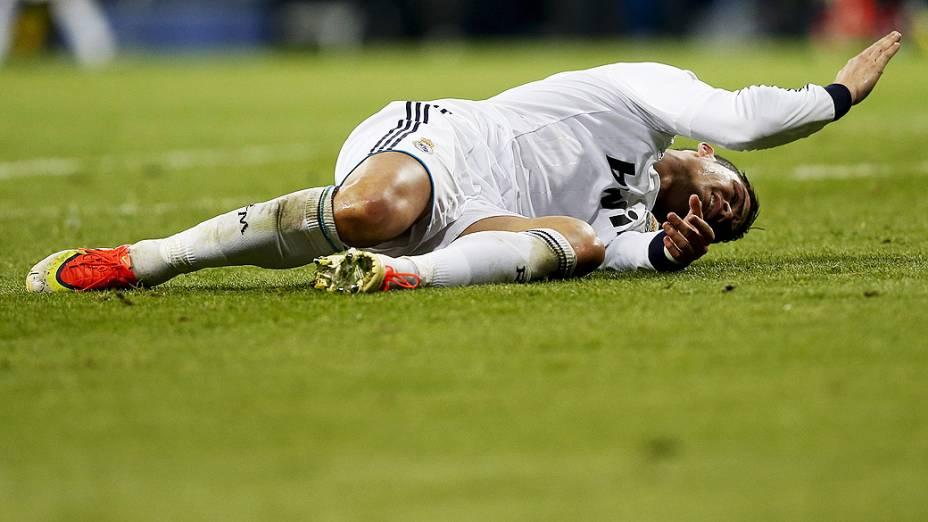 Cristiano Ronaldo durante a partida contra o Borussia, pelas semifinais da Liga dos Campeões