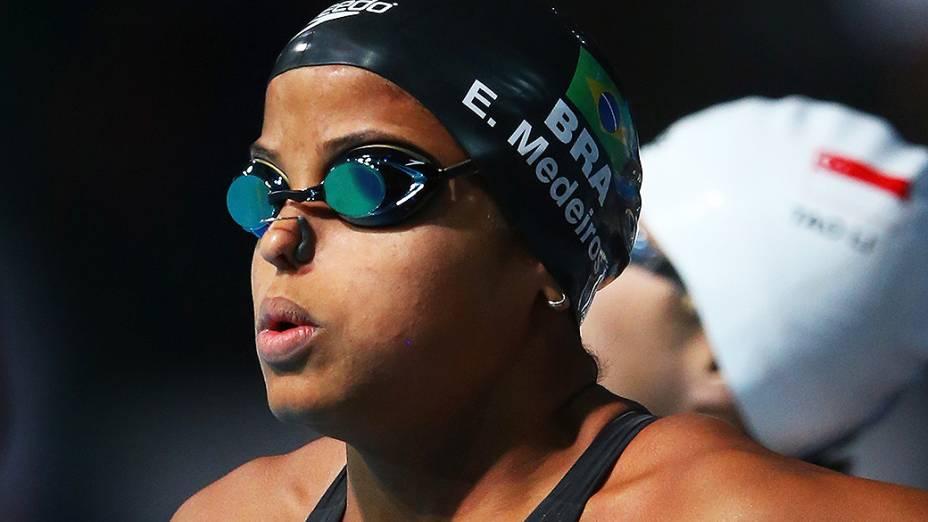 A pernambucana Etiene Medeiros, de 22 anos, é a revelação da natação brasileira