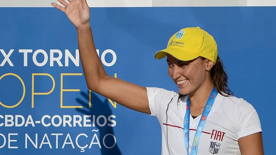 Campeã mundial da prova de 10 km, Poliana Okimoto venceu o prêmio Brasil Olímpico em 2013 na categoria feminina