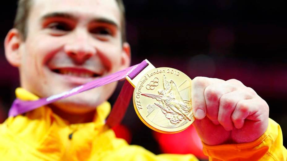 Arthur Zanetti medalha de ouro nos Jogos Olímpicos de Londres, em 06/08/2012