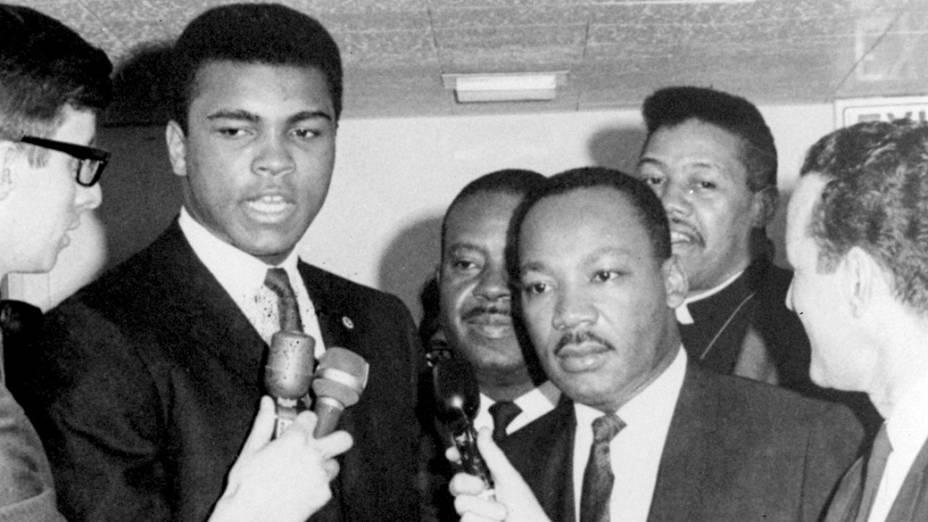 Dois ícones: Muhammad Ali e Martin Luther King