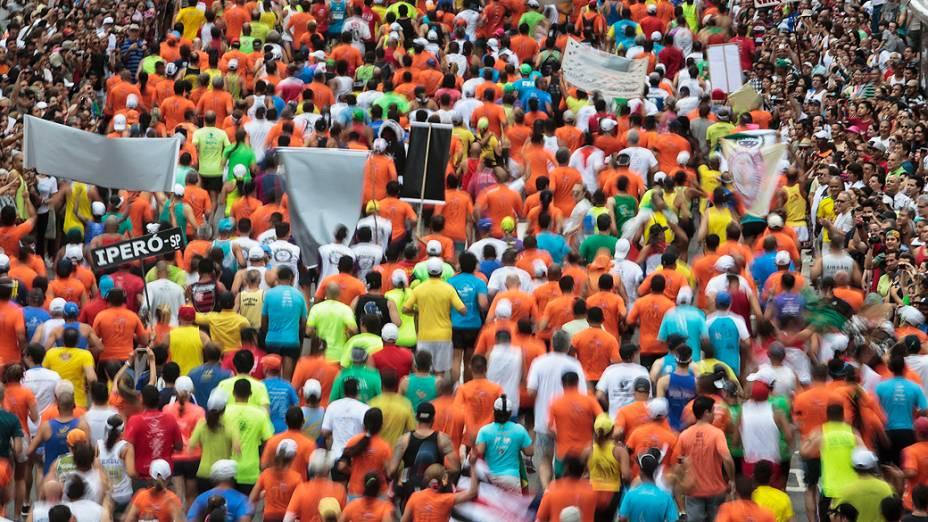 Concentração de corredores na 89ª Corrida de São Silvestre