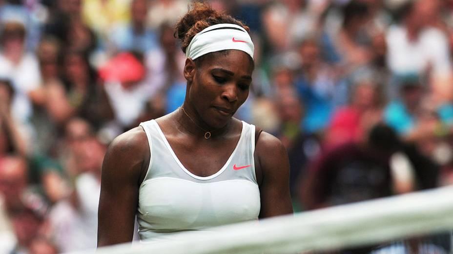 Serena Williams foi eliminada pela alemã Sabine Lisicki no 7º dia do torneio