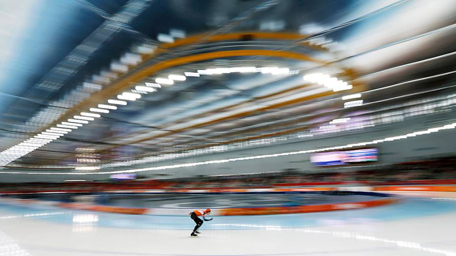 Jorrit Bergsma, na prova masculina dos 10.000m