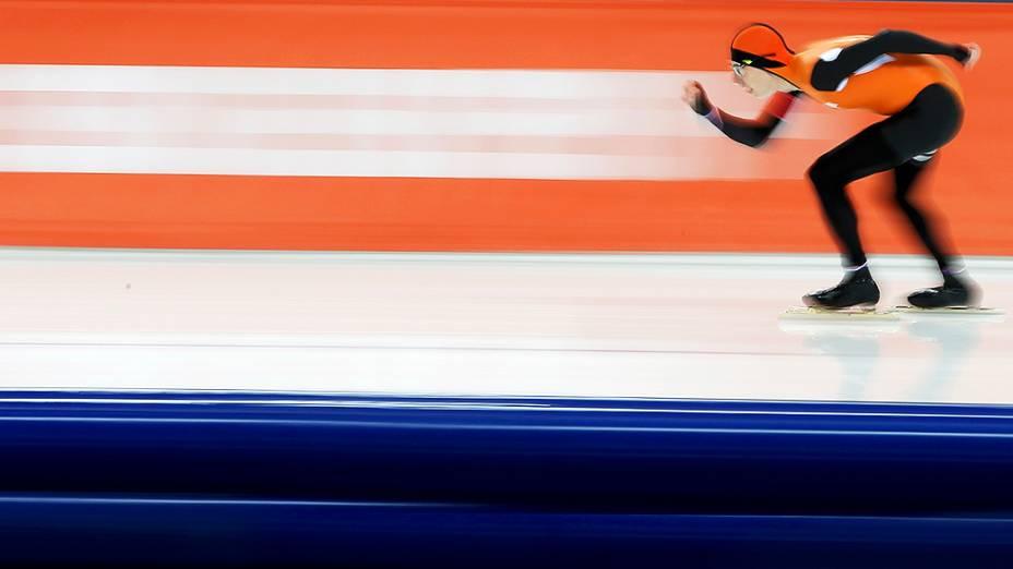 Jorrit Bergsma, na prova dos 10.000 metros