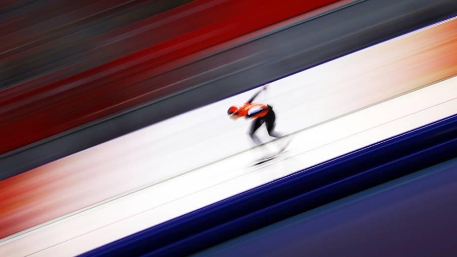 Carien Kleibeuker, na prova feminina dos 5.000m