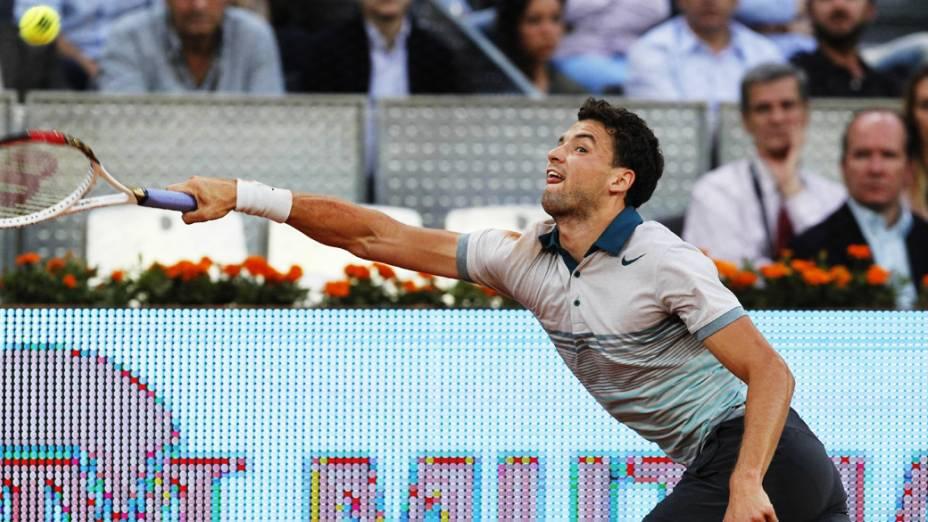 Grigor Dimitrov em partida do Masters 1000 de Madri