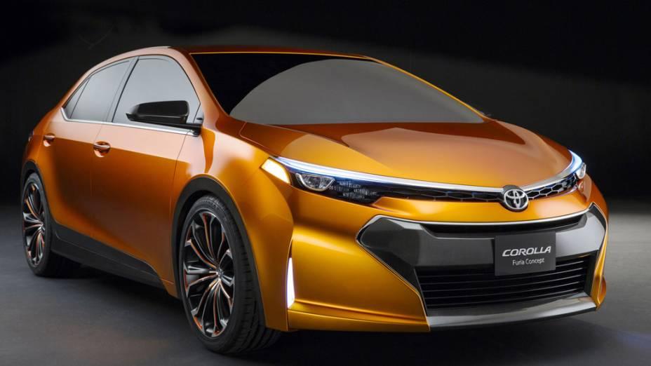 O carro conceito Corolla Furia, apresentado no Salão de Detroit