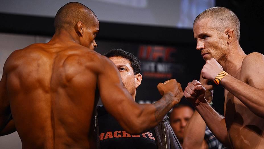 A pesagem do UFC em Barueri: Alan Patrick x Garett Whiteley