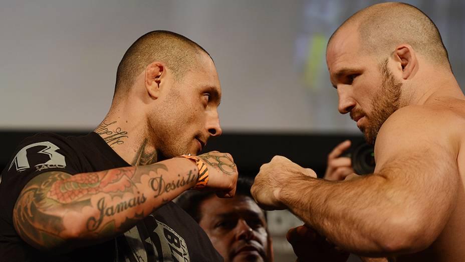 A pesagem do UFC em Barueri: Thiago Silva x Matt Hamill