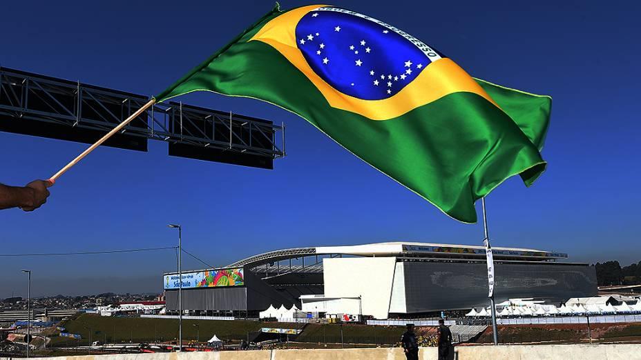 Estádio Itaquerão foi palco da cerimônia oficial de abertura da Copa do Mundo de 2014 no Brasil