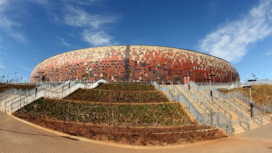 O estádio Soccer City em Johannesburgo, na África do Sul: só 14% acham que 2014 será melhor que o Mundial de 2010