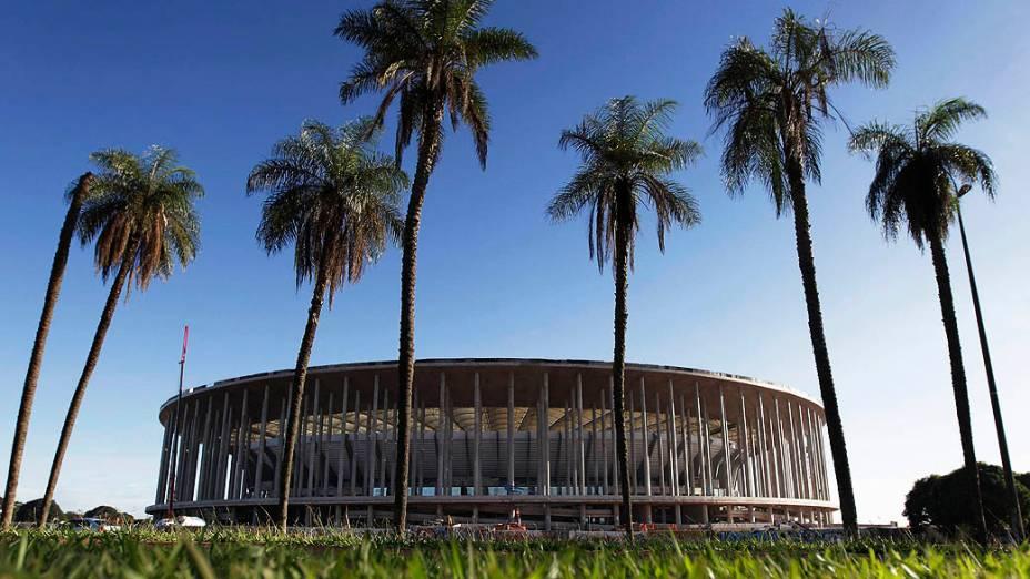 Estádio Mané Garincha em abril de 2013