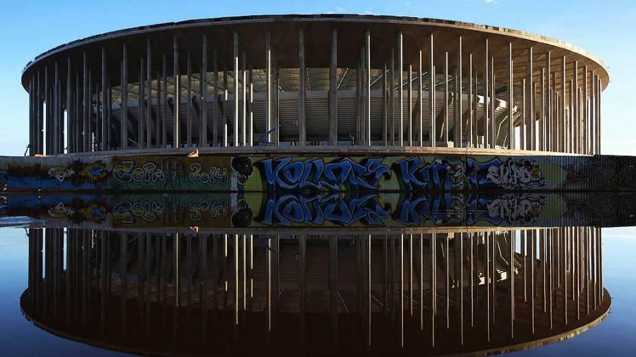 O Estádio Nacional Mané Garrincha, em Brasília, em abril de 2013: palco da abertura