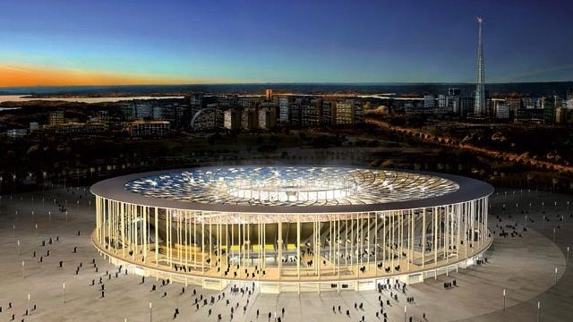 O projeto original do Estádio Nacional de Brasília