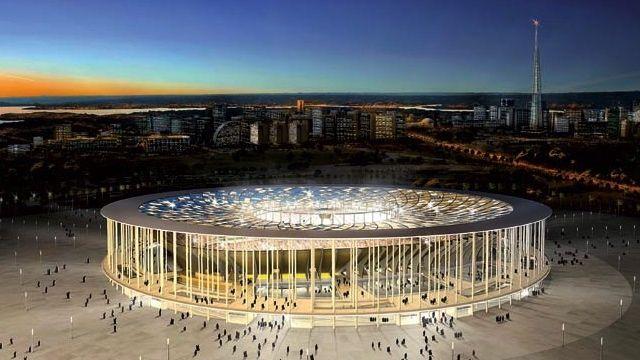 O projeto original do Estádio Nacional de Brasília: palco da partida de abertura da Copa das Confederações