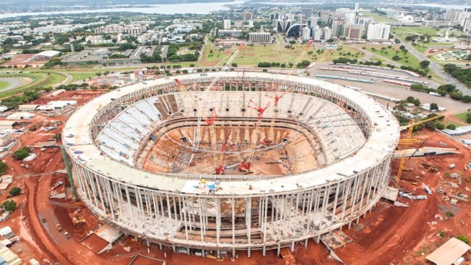 O Estádio Nacional Mané Garrincha, em Brasília, em janeiro de 2013