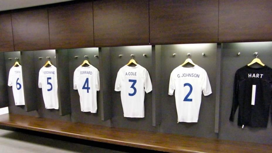 Vestiário do estádio de Wembley, Londres