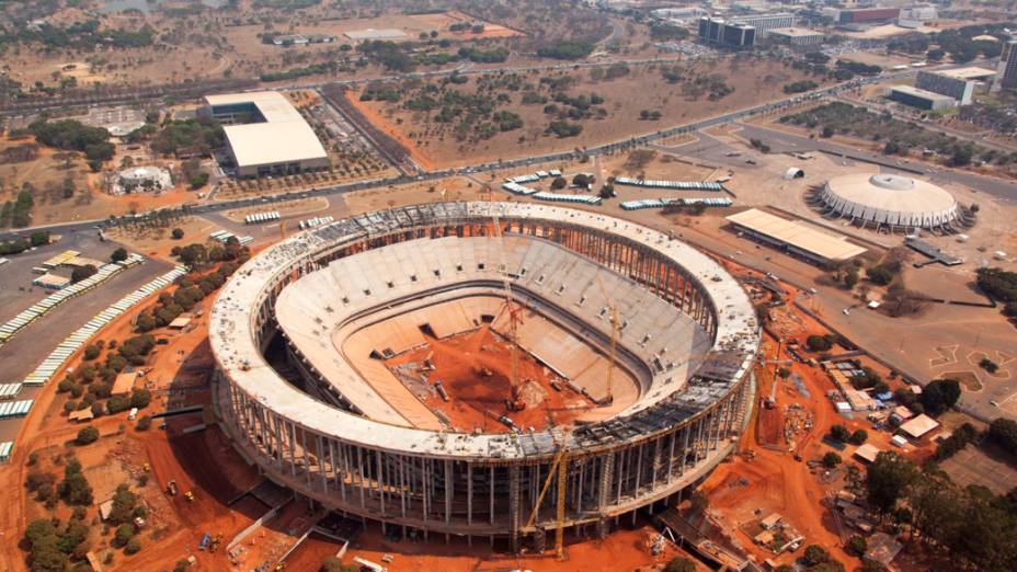 Estádio Mané Garrincha em Brasília, setembro de 2012