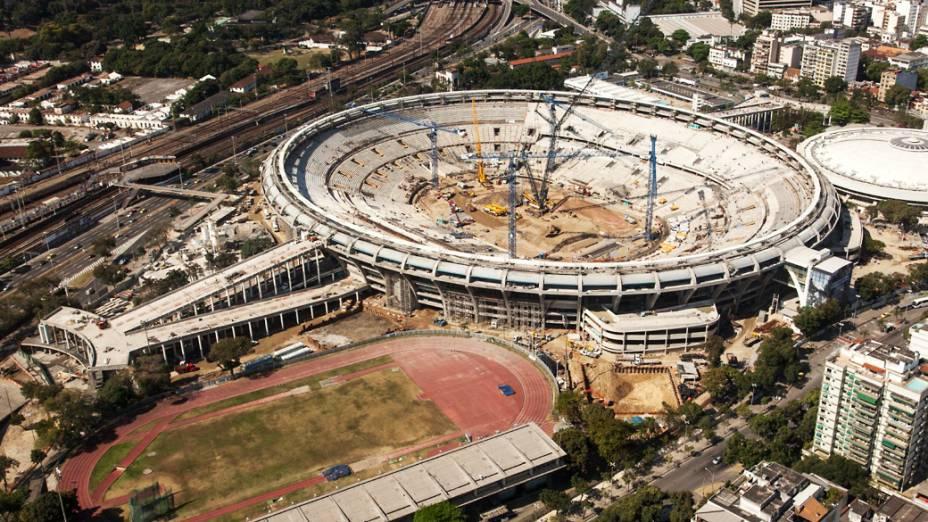 Estádio do Maracanã no Rio de Janeiro, setembro de 2012