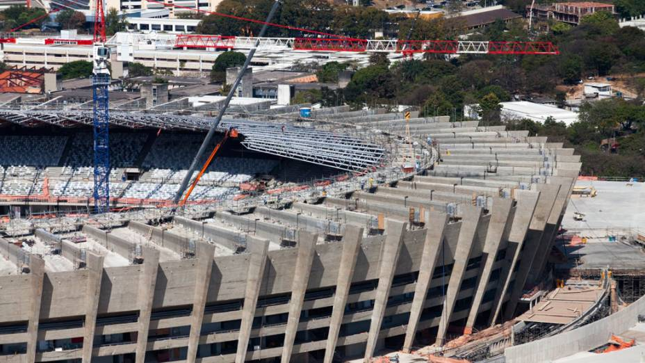 Estádio do Mineirão em Belo Horizonte, setembro de 2012