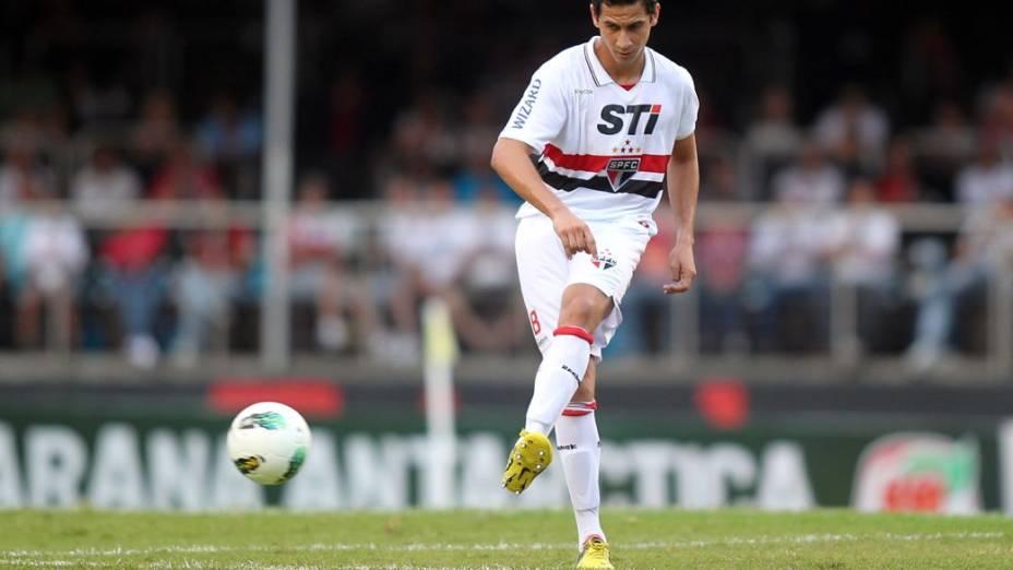 O meia Paulo Henrique Ganso faz sua estreia pelo São Paulo, contra o Náutico, no Morumbi, na reta final do Brasileirão 2012
