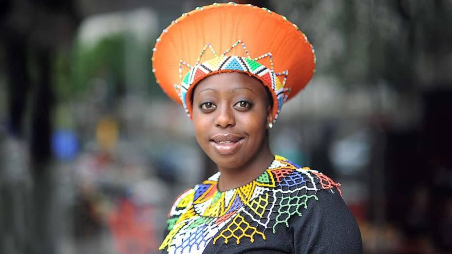 Estudante africana em Joanesburgo, na África do Sul