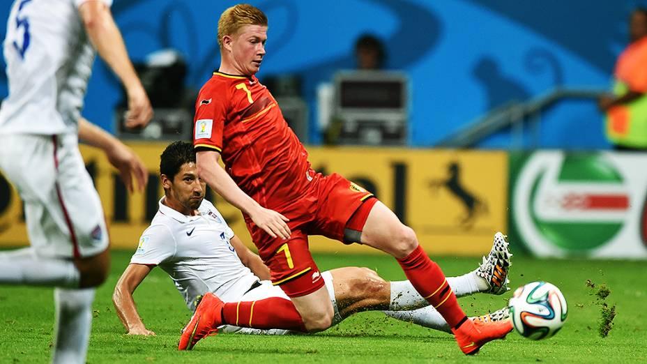 Lance no jogo entre Bélgica e Estados Unidos na Arena Fonte Nova, em Salvador