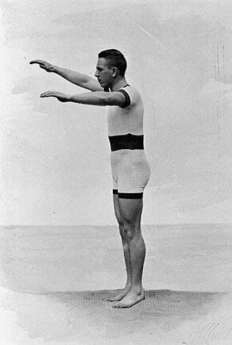 O húngaro Alfréd Hajós, o primeiro a conquistar uma medalha de ouro nos 100 m livres nos Jogos Olímpicos modernos, em 1896.