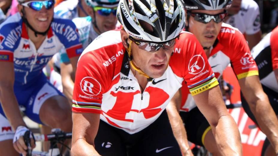 O ciclista americano Lance Armstrong na Volta da França de 2011