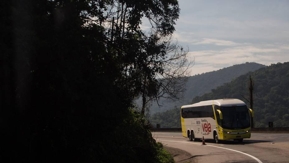 Expedição Veja pelo Brasil. Na foto, a expedição passando pela Serra do Cafezal, em São Paulo