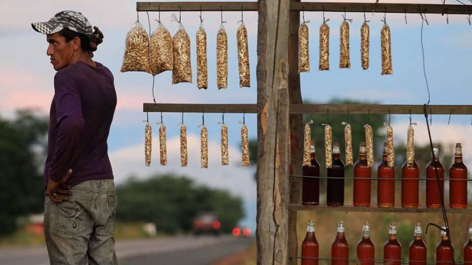 Vendedor de mel nas proximidades de Picos (PI)