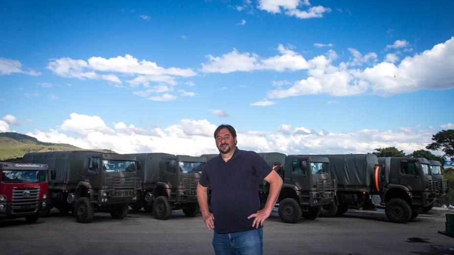 Marcos Balbinot, da montadora de caminhões BMB, na cidade de Porto Real (RJ)
