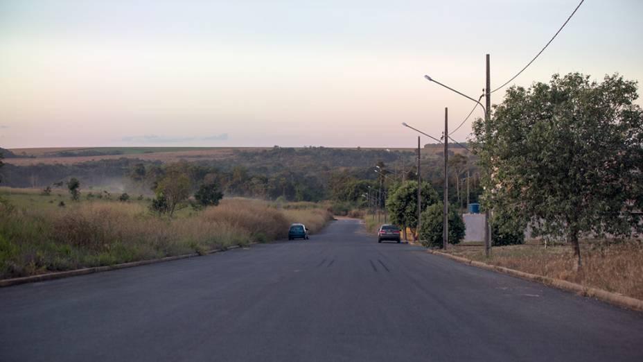 Na foto Av. Blumenau, que será prolongada até a BR163, na Cidade de Sorriso (MT)