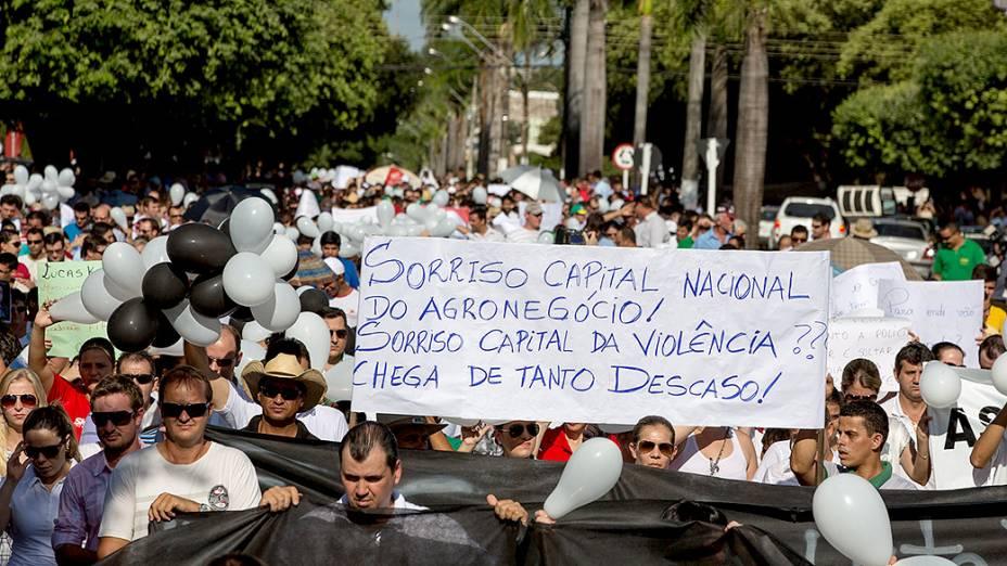 Expedição VEJA acompanha o protesto contra a violência na cidade de Sorriso (MT)