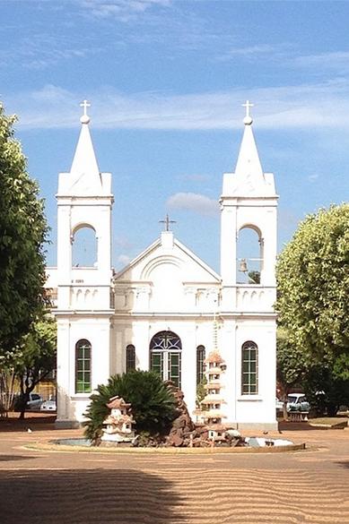 Expedição VEJA - Igreja de Santo Antônio, no centro da cidade de Três Lagoas, Mato Grosso do Sul