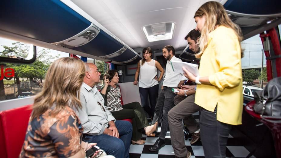 Expedição VEJA - Na foto, a prefeita da cidade de Três Lagoas, Márcia Moura conversa com a equipe