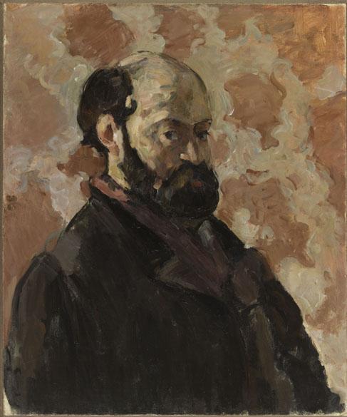 Obra Portrait de l'artiste au fond rose do pintor impressionista Paul Cézanne
